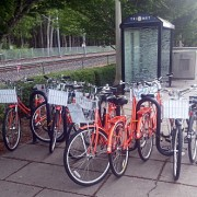 Nike bike share clogs bike parking at Beaverton Creek station