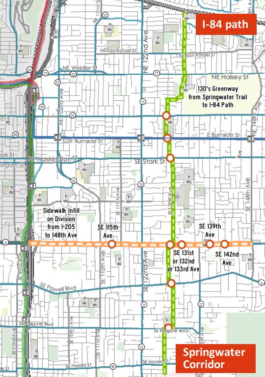 130s bikeway annotated