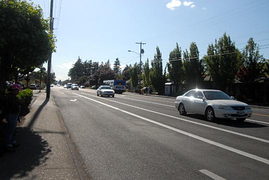 auto traffic on holgate