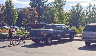 Truck Driver Does Rolling Coal On Riders And One Of Them Is A Bike Cop