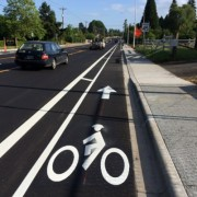 New buffered bike lanes for Boones Ferry Road