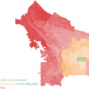 MIT maps show off the big boons of biking for neighborhoods between Chavez and 82nd