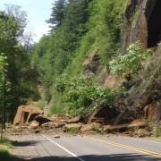 Landslide closes Historic Columbia River Hwy near Stark St. Bridge