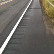 PBOT has installed rumble strips in the Marine Drive bike lanes – UPDATED