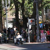 Dispatch from downtown on sidewalk biking enforcement day