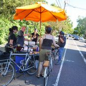 'Rider Appreciation Day' shows business support for cycling on Williams Ave