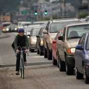 Want to breathe as little pollution as possible? Pedal at exactly 11 mph