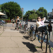 Minneapolis is a very nice city for biking but it is definitely no Portland