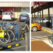 City drops 84 bike parking spaces into East Portland parking lots