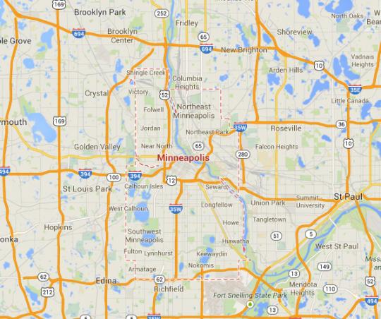 minneapolis map freeways