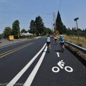 First look: PBOT's new bike lane 'adjustments' on N Willamette Blvd