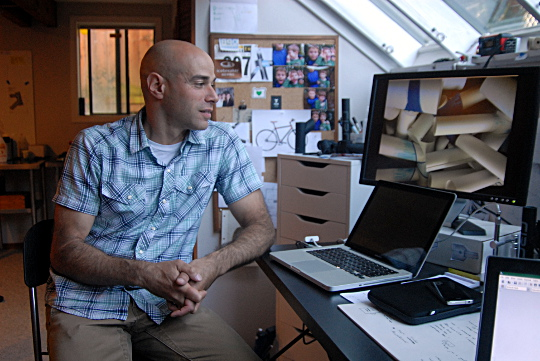 rich at desk