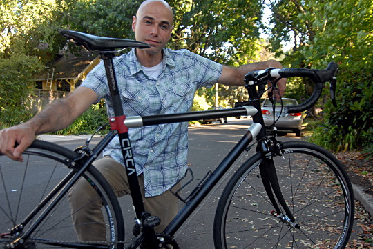 rich with bike