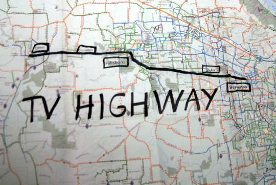 tv highway map