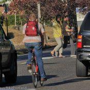 Dispatch from a crosswalk enforcement action on NE Killingsworth