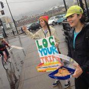 BTA staff heads to the bridges to boost 'Bike Commute Challenge'