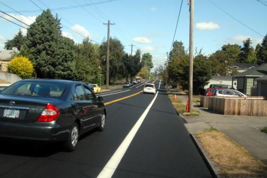 ambiguous bike lane northbound