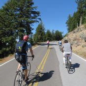 A how-to guide for the ultimate carfree Crater Lake rim ride
