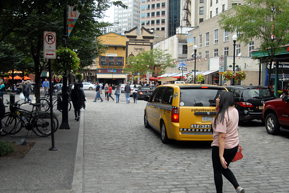 Darby Street is one of six new shared spaces opened in Auckland New Zealand  since 2011