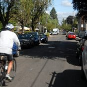 After city balks at neighbors' request for bike lane, 34th Ave resident goes public