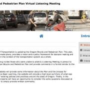 Attend a virtual open house for ODOT's Bike/Walk Plan update