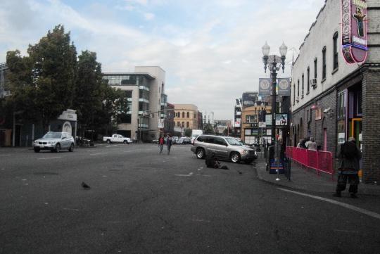 plaza area