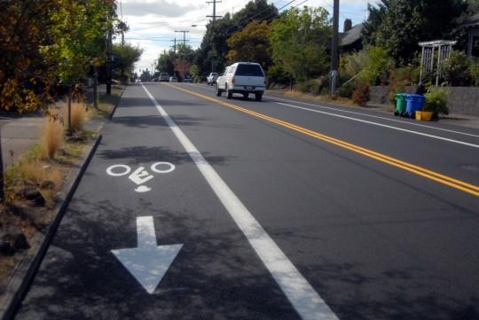 stencil bike lane