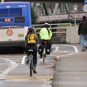 Bike lane rumble strips on Hawthorne viaduct coming out next week