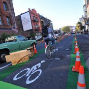 First look: Better Block re-imagines 3rd Ave with protected bike lane, new crosswalk