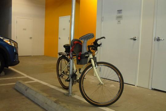 bike on pole
