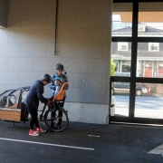 LEED apartment building lacks cargo bike parking, so family rents an auto space