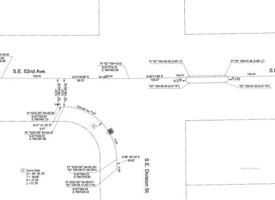 schematic of 52nd crossing