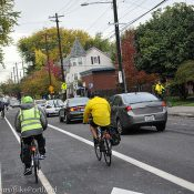 """Thoughts on """"passing chaos"""" on new Williams Ave bike lane"""