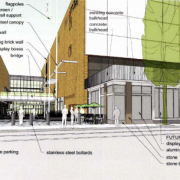 Proposed changes to Lloyd Center Mall entrance will face protected bike lane