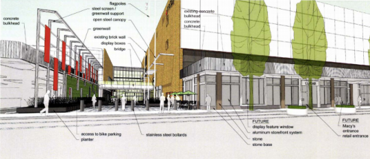 lloyd center entrance rendering