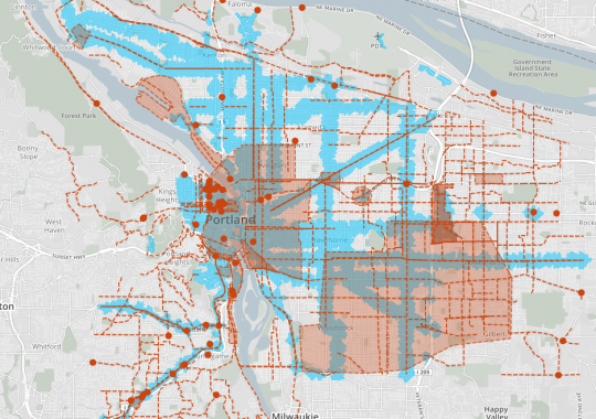 transit access and bike projects