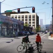 Bike riders and bikeways loom large in Burnside Bridgehead development boom