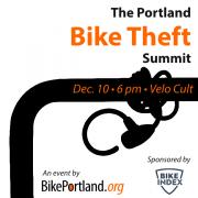 Agenda set for the Portland Bike Theft Summit