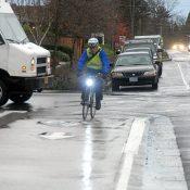 First Look: Protected bike lane on SW Multnomah Boulevard