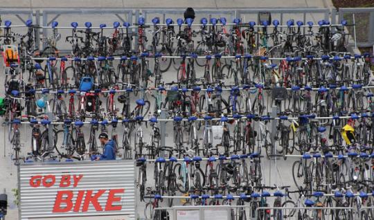 go by bike overhead