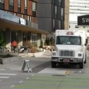 Truck drivers are using Portland's marquee cycle track as loading zone
