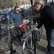 Bike rack company touts security at Portland demo event