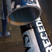 Thief saws through PBOT bike rack to steal women's bike
