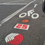 Bike lane art honors late Blazers star Jerome Kersey