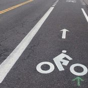 First Look: New bike lane, sharrows on NE 7th