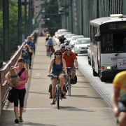 What a difference the sun makes: Hawthorne bike traffic up 46% over last February
