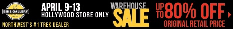 Bike Gallery warehouse sale!