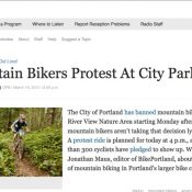 River View update: Protest ride, OPB radio coverage, new video