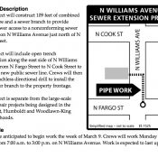 Sewer project will impact biking on N Williams Ave for two months
