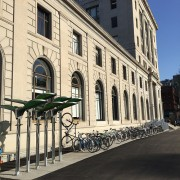 Check out the beautiful bike parking at Pacific Northwest College of Art